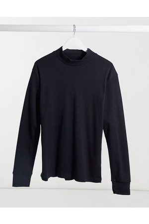 Another Influence High neck long sleeve top in black