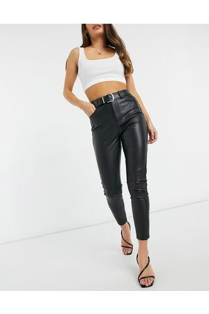 Forever New PU high waisted trouser in black