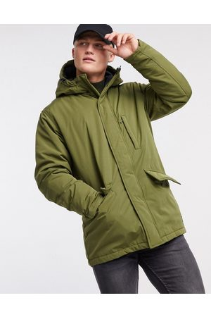 Levi's Levi's woodside utility hooded parka jacket in olive night-Green