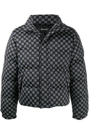 MISBHV All-over monogram print padded coat
