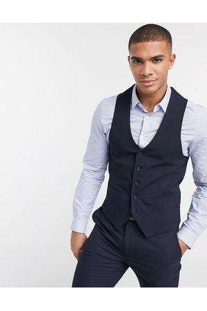 New Look Muži Společenské vesty - Skinny waistcoat in navy