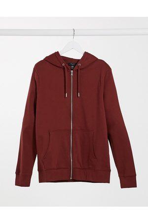 New Look Zip through hoodie in red