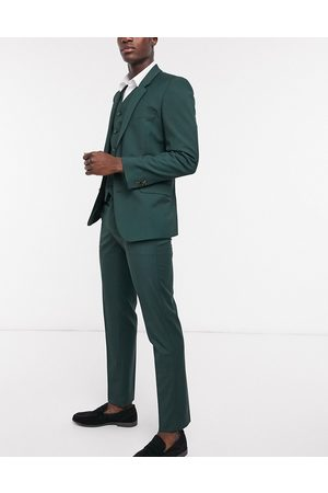 ASOS Slim suit trousers in bottle green