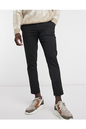 ASOS Muži Chino - Skinny cropped smart trousers in black
