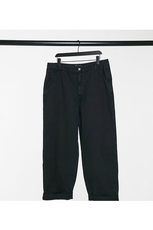 ASOS ASOS DESIGN Curve slouchy chino trouser in black
