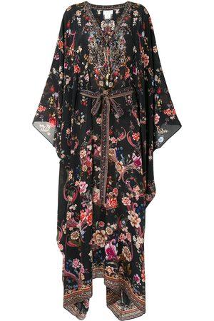 Camilla Draped tie-waist kaftan dress