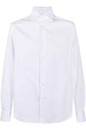 corneliani Curved hem longsleeved shirt