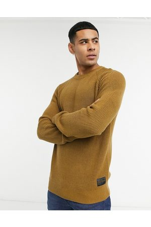 Selected Chunky jumper in tan