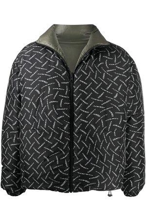 MARCELO BURLON County logo print padded jacket