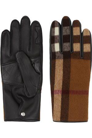 Burberry Muži Rukavice - Check-pattern gloves