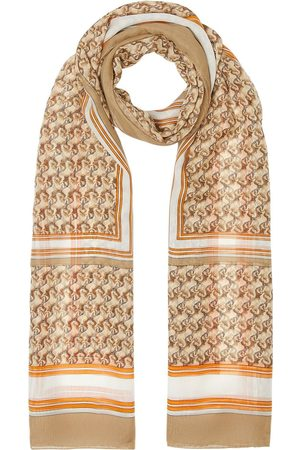 Burberry Unicorn-print silk scarf