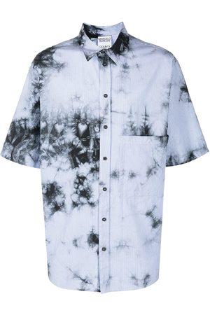 MARCELO BURLON Tie-dye striped overshirt