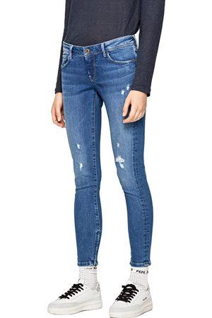 Pepe Jeans Ženy Kalhoty - Dámské modré džíny Cher