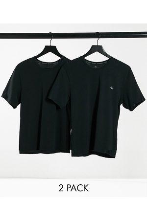 Calvin Klein CK One 2 pack chest logo crew t-shirts in black