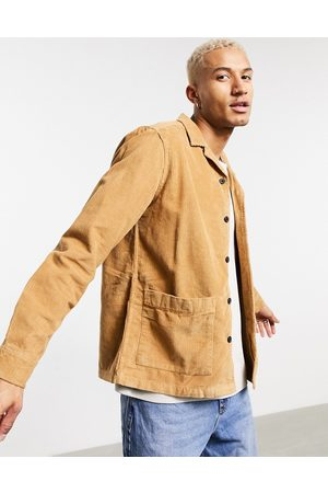 ASOS Cord overshirt in tobacco-Brown