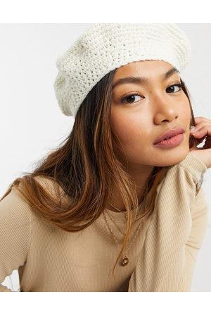 ASOS Crochet beret in white