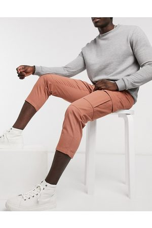 Another Influence Muži Kapsáče - Cargo trouser co-ord in tan