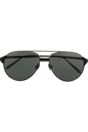 Linda Farrow Black aviator sunglasses