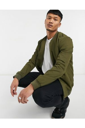 New Look Cotton bomber in khaki-Green