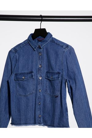 Salsa Ženy Džínové košile - Georgia Denim Western Shirt with Tassle detail-Blue