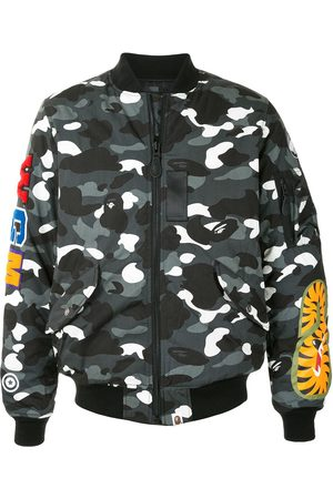 A BATHING APE® Camo Shark bomber jacket