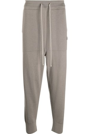 Moncler + Rick Owens Relaxed knitted track pants