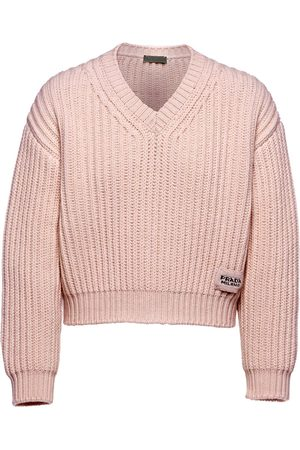 Prada Chunky-knit V-neck jumper