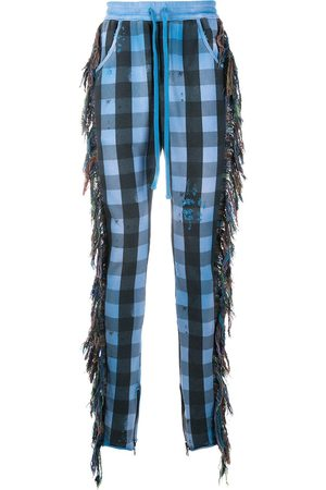 Alchemist Fringe-trim checked trousers
