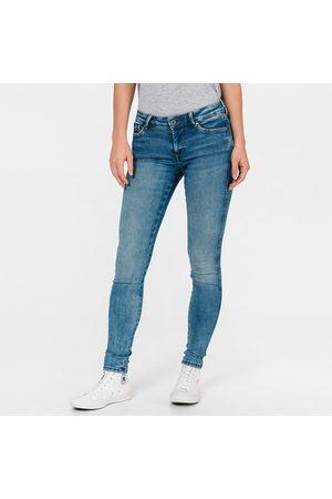 Pepe Jeans Ženy Kalhoty - Dámské modré džíny Pixie Stitch