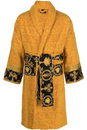 VERSACE Župany - Barocco-panel logo devoré robe