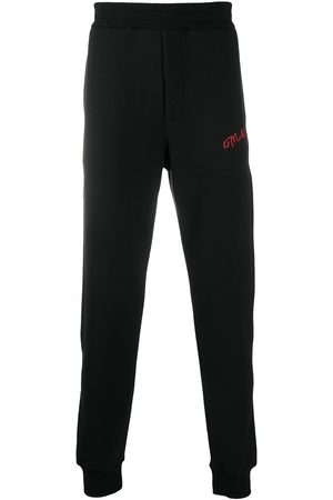 Alexander McQueen Embroidered logo track trousers