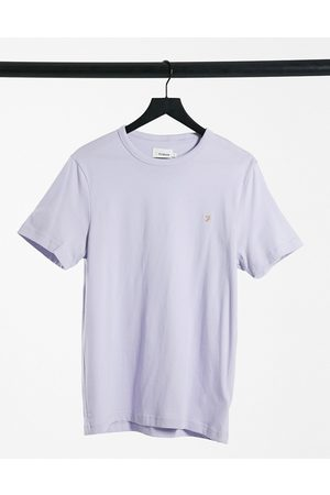 Farah Danny slim fit logo t-shirt in lilac-Purple