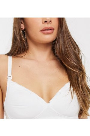 New Look Padded nursing bra in white