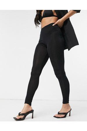 Fashionkilla Glitter leggings in black