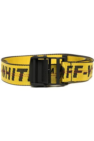 OFF-WHITE CLASSIC INDUSTRIAL BELT SHORT YELLOW BLA