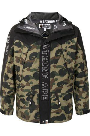 A BATHING APE® Camouflage print logo jacket