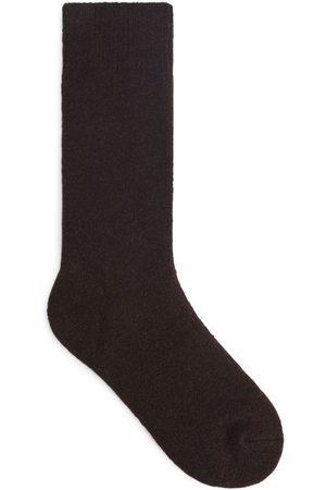 ARKET Merino Wool Socks - Brown
