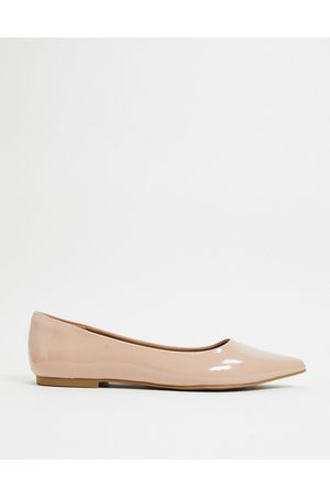 ASOS Lucky pointed ballet flats in beige