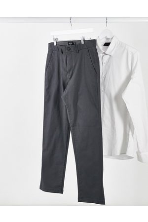 Burton Organic skinny stretch chinos in charcoal-Grey