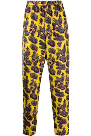 Stella McCartney Kalhoty - Graphic print trousers