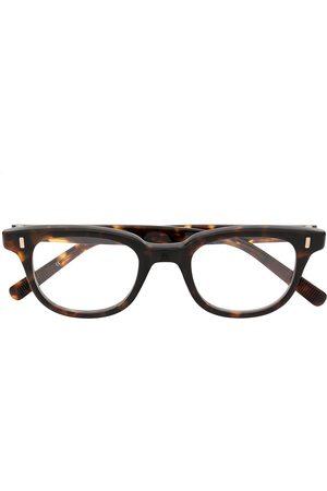 EYEVAN7285 Tortoiseshell rectangular-frame glasses