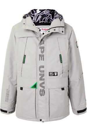 AAPE BY *A BATHING APE® Hooded padded parka coat
