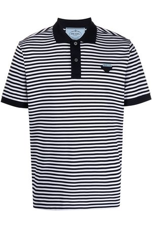 Prada Striped piqué polo shirt
