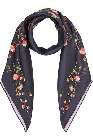 Burberry Rose-print silk scarf
