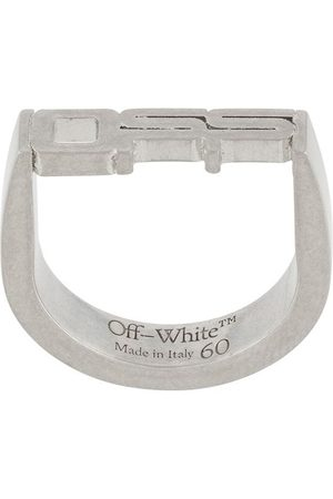 OFF-WHITE OFF TAG RING SILVER NO COLOR