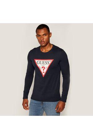Guess Pánské modré triko s dlouhým rukávem