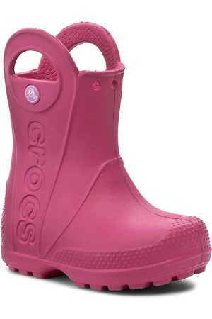 Crocs Holínky - Handle It Rain Boot Kids 12803 Candy Pink