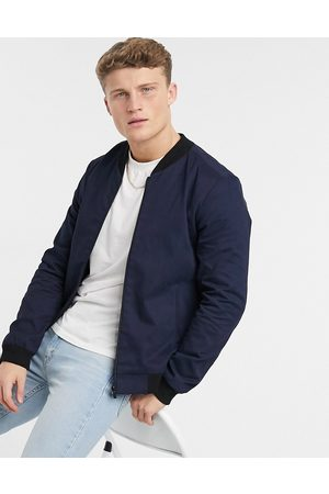 New Look Muži Bombery - Cotton bomber in navy