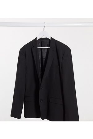 ASOS Muži Saka - Plus skinny suit jacket in black