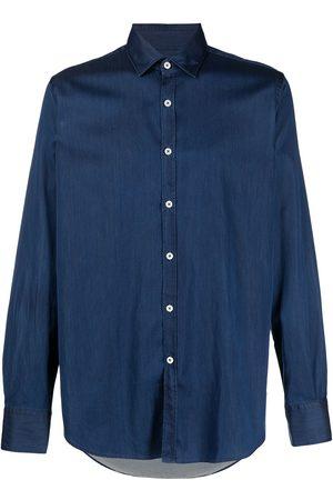 CANALI Long-sleeve cotton shirt